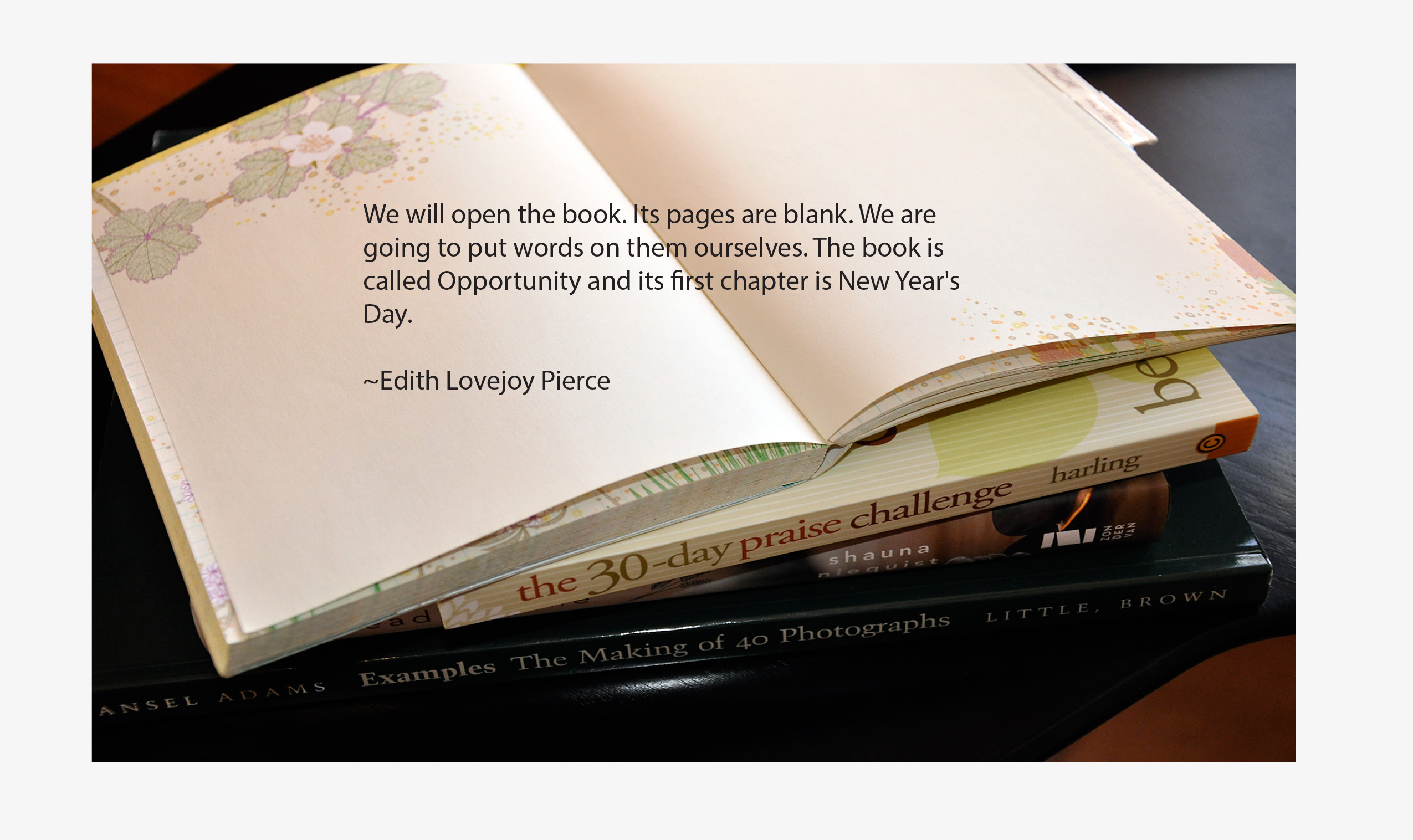 New Year Book Quote